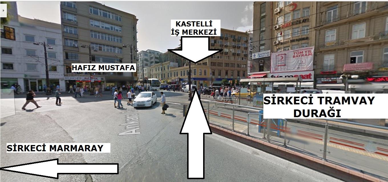 iletisim =sirkeci marmaray ve tramvay durağının tam karşısındayız